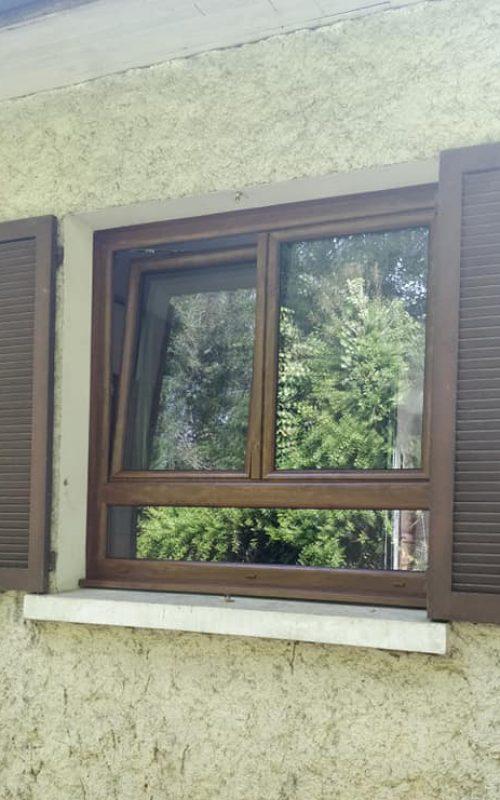 Fenêtre PVC Chêne doré CD Fermetures